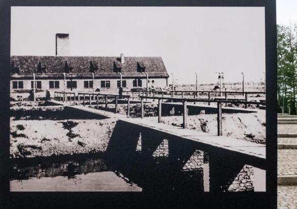 A 1943 photograph by the SS of Crematorium III, Birkenau, Oświęcim, Poland