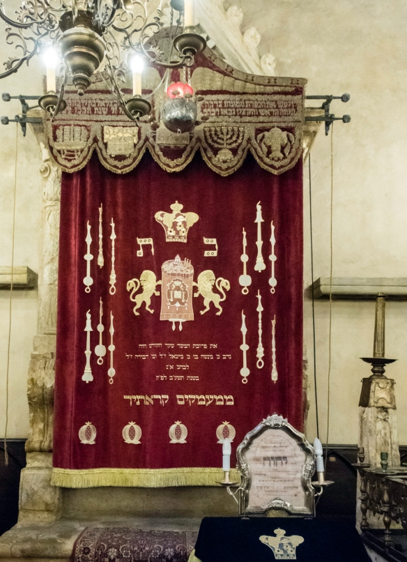 A close-up of the Torah Ark in the Old-New Synagogue in the Jewish Quarter, Prague, Czech Republic