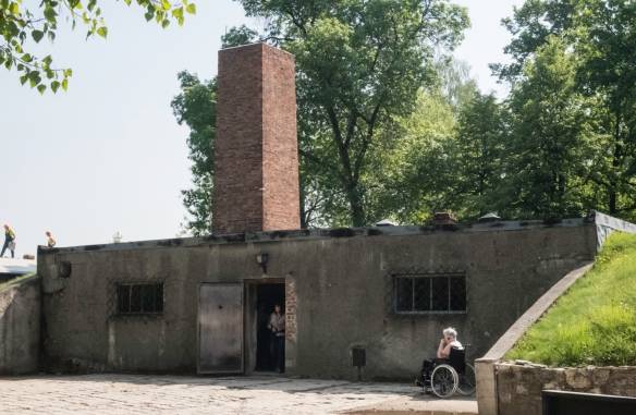 A former munitions bunker that was reconstructed as a gas chamber and crematorium (used as such until 1943), Auschwitz, Oświęcim, Poland