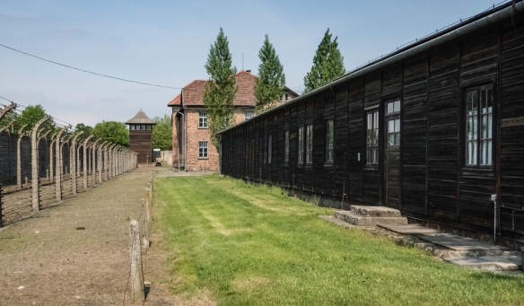 As the Nazis expanded the initial site, wooden barracks (cheaper and faster to construct than brick buildings) were added, Auschwitz, Oświęcim, Poland