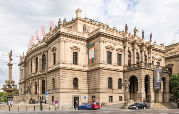 Classic late-19th century architecture typical of many public buildings in Prague, Czech Republic