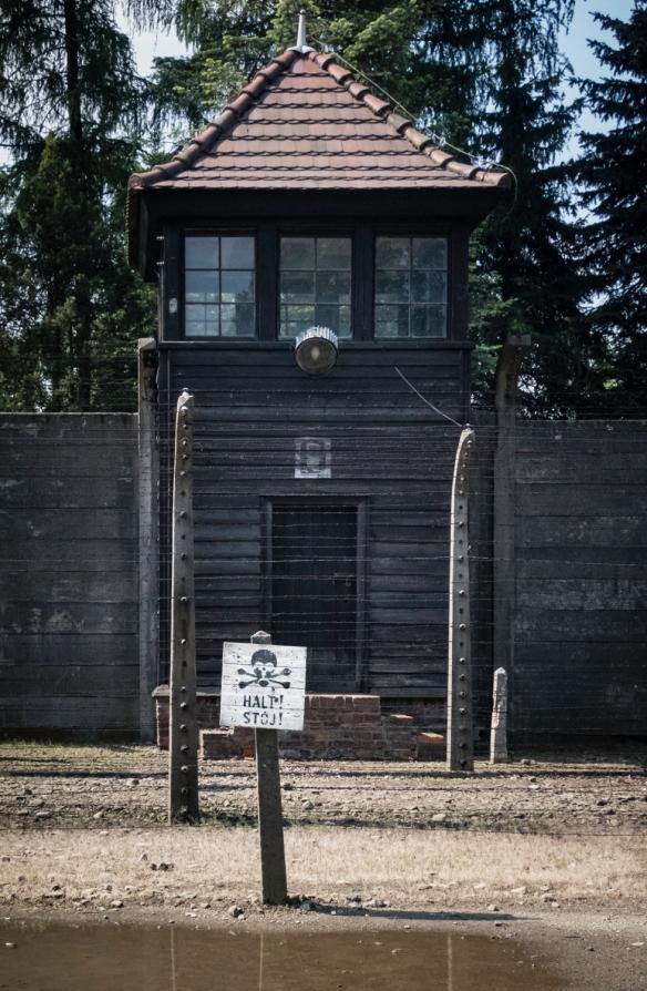 """""""HALT!"""", Auschwitz, Oświęcim, Poland"""
