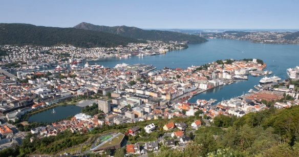 Founded more than 900 years ago, Bergen, Norway – with roots to the Viking Age and beyond – today is Norway's second largest city and lies clambering up the mountain sides, overlooki