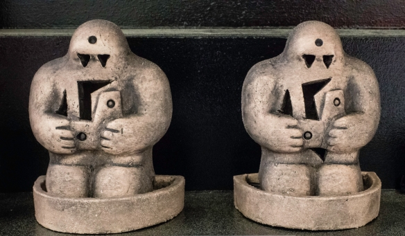 Near the Old Jewish Cemetery (where Rabbi Loew, the legendary creator of the Prague golem, is buried) there were many variations of miniature golems for sale on the street – around the