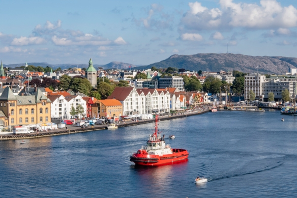 Situated on Norway_s southwestern coast, Stavanger_s city-center harbor is surrounded by historical buildings reflecting its past as a shipping, shipbuilding, and fish canning center