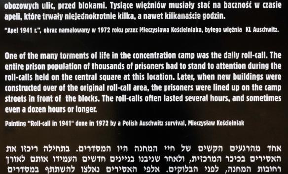 Text on sign from Auschwitz Museum; Auschwitz, Oświęcim, Poland (#10)