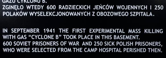 Text on sign from Auschwitz Museum; Auschwitz, Oświęcim, Poland (#12)