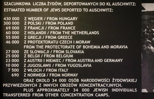 Text on sign from Auschwitz Museum; Auschwitz, Oświęcim, Poland (#19)