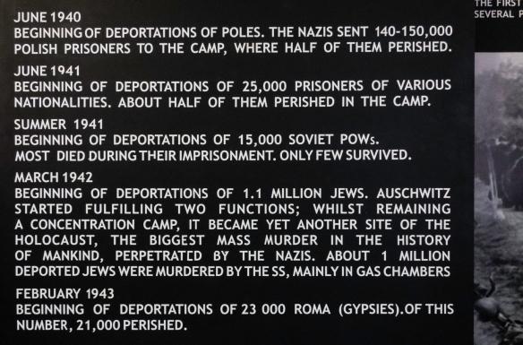 Text on sign from Auschwitz Museum; Auschwitz, Oświęcim, Poland (#5)