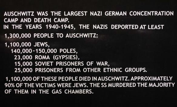 Text on sign from Auschwitz Museum; Auschwitz, Oświęcim, Poland (#7)