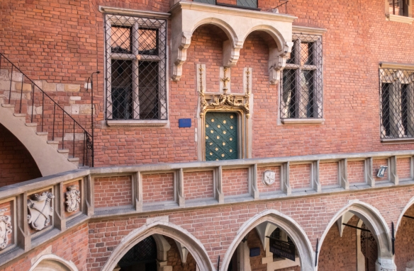 The interior courtyard of Collegium Maius, the oldest building of Jagiellonian University, which is, in turn, the second oldest university in Central Europe