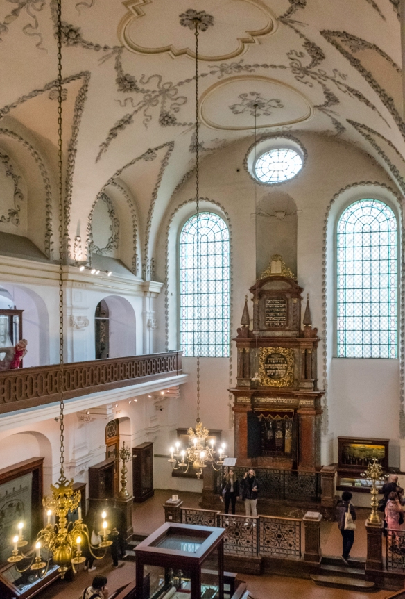 The restored interior of the Maisel Synagogue [Czech- Vysoká Synagoga], also known as the High Synagogue which is part of the Jewish Muesum of Prague in the Jewish Quarter, Prague, Cze