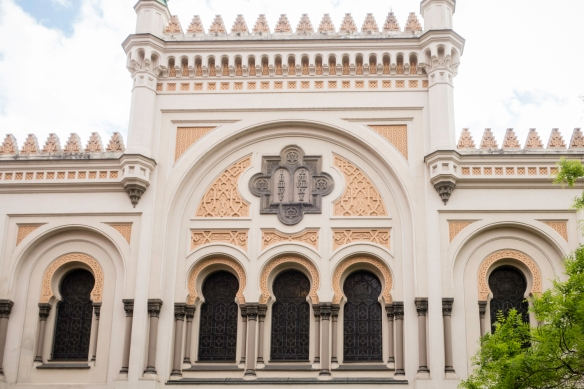 The Spanish Synagogue in the Jewish Quarter of Prague, Czech Republic, with its Moorish design, is known as the most beautiful synagogue in Europe