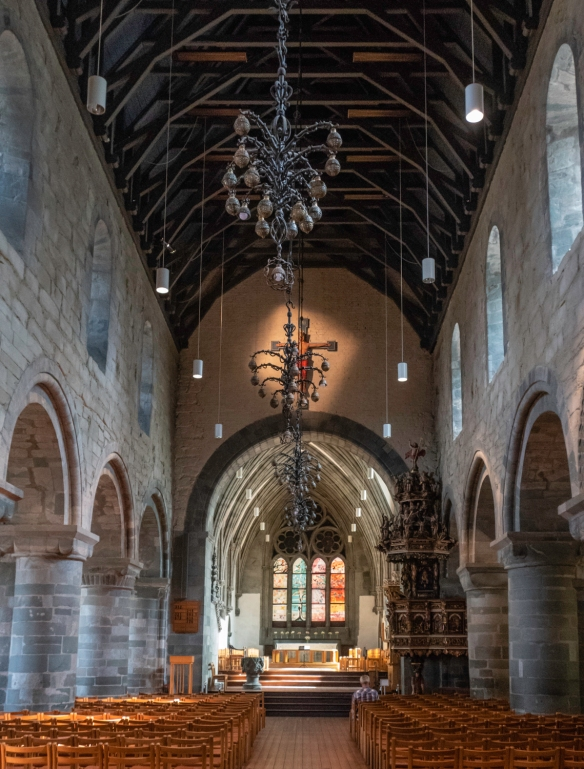 The Stavanger Cathedral was originally built as a Roman basilica in Anglo-Norman style; after a fire damaged the Cathedral in 1272, it was rebuilt with the addition of a larger choir an