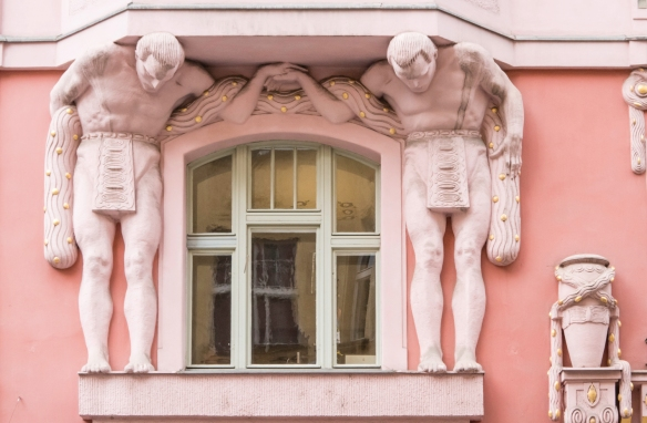 "Window ""support"" statuary, found near Old Town Square, Prague, Czech Republic"