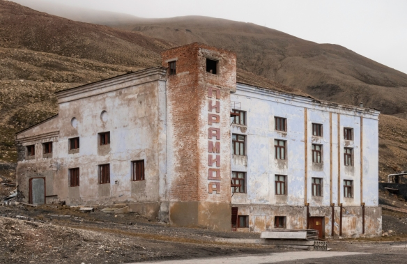 Site of the future Trump International Hotel in Pyramiden, Spitsbergen Island, Svalbard
