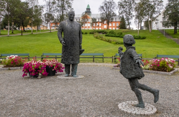 The central district of Tromsø, Norway, has several large parks with a nice collection of contemporary statues