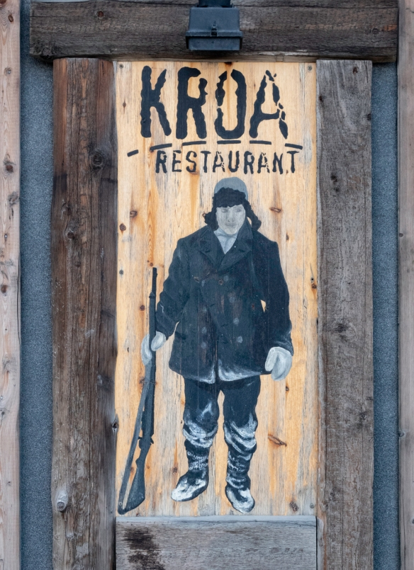 We had local cuisine (fish soup and cod) at Restaurant Kroa in Longyearbyen, Spitsbergen Island, Svalbard; at dinner, another specialty is their local moose burger