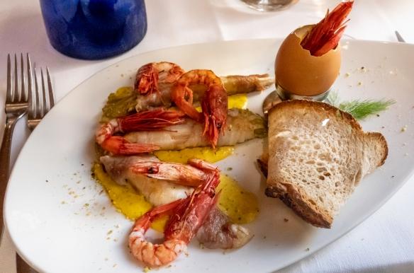 A seafood appetizer, Il Tegolo Champagneria-Crudite_, Livorno, Italy