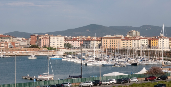 After lunch at Il Tegolo Champagneria-Crudite_ in Livorno, Italy, we returned to the Port of Livorno where our ship was docked; that evening we cooked dinner from the fresh ingredients