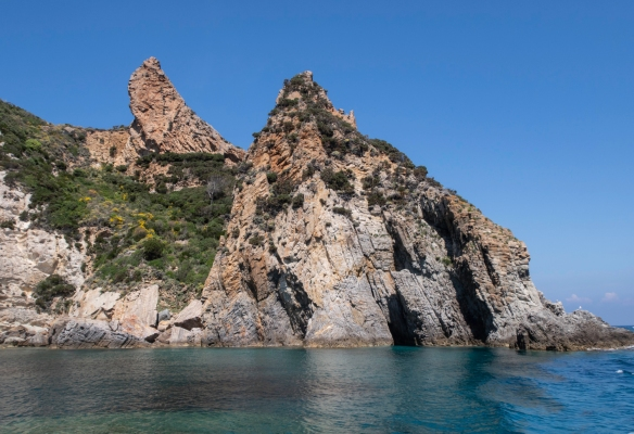 Exploring the coast of Ponza in a chartered, private local motor boat