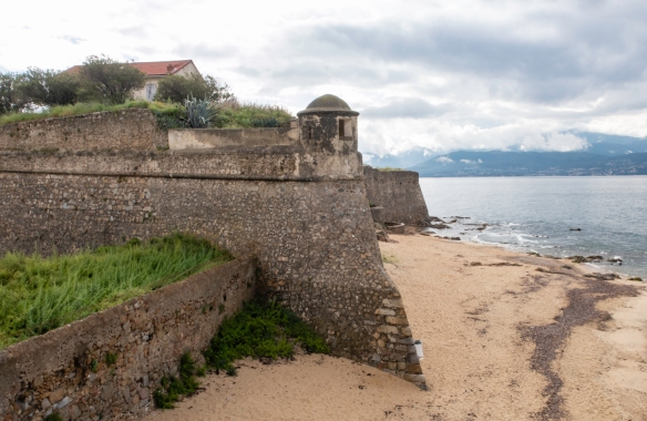 Fortress La Citadelle, built in 1492, on the waterfront corner of Vielle Ville (the Old City), Ajaccio, Corsica (France)