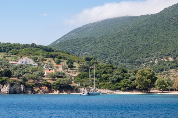 From Fiskardo on Kefalonia, we set sail directly east to the island of Ithaca, the mythical home of Odysseus (documented by the Greek poet Homer in his Odyssey), Greece