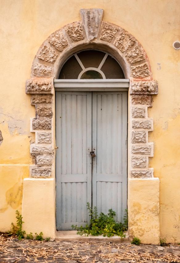 Locked door, Lipari, Italy