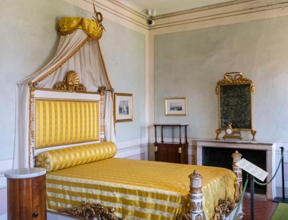Napoleon_s bedroom in the Villa dei Mulini, Portoferraio, Elba (island), Italy