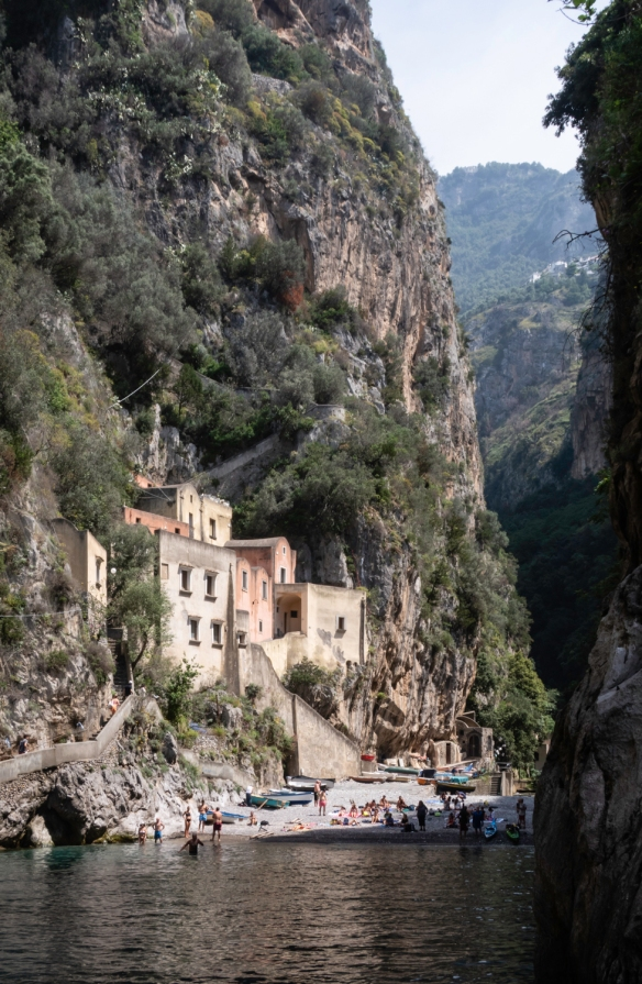 The Amalfi Coast, Italy, #2 – one of many small coves that hide a local beach