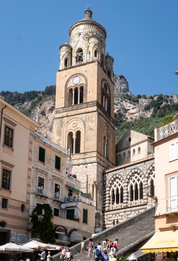 The Cattedrale di Sant_Andrea (Cathedral of St. Andrew) complex represents a historically significant and striking monument -- the cathedral dates back to the 11th century, Amalfi, Ita
