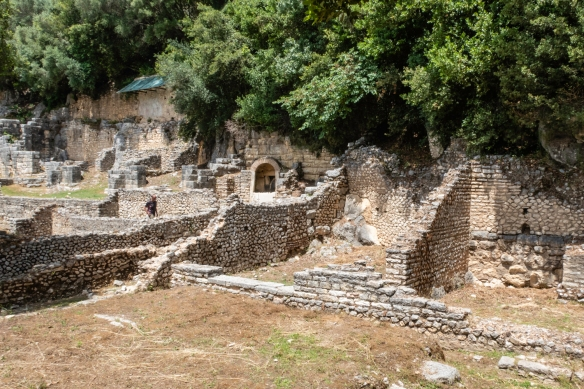 The Greek Agora and, later, the Roman Forum, that formed the civic and commercial epicenter of the city, Butrint National Park, Sarandë, Albania