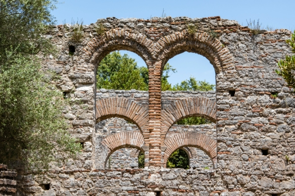 The Gymnasium, perhaps a pagan shrine, later transformed into a chruch, Butrint National Park, Sarandë, Albania