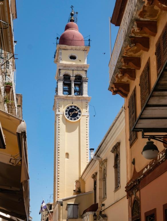 The main clock tower, Kerkyra, Corfu, Greece