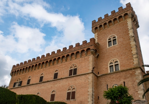 The old castle is famous as the landmark symbol of the town of Bolgheri, Italy