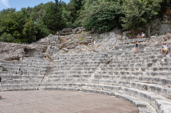 The seating area of the ancient Roman theatre, Butrint National Park, Sarandë, Albania