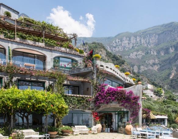 The terrace of Il San Pietro di Positano Hotel, Positano, Italy #1