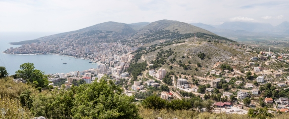 This view of Sarandë, Albania, looking northward from the hill that is the site of Lëkurësi Castle, shows how strategic the location was to Sultan Suleiman the Magnificent