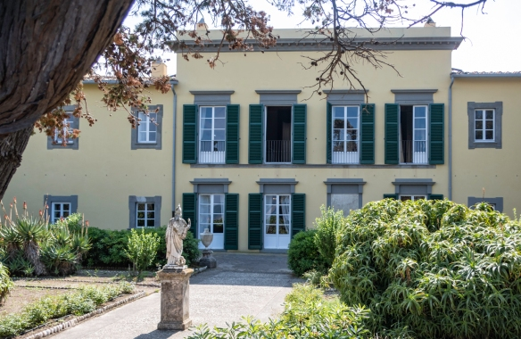 When exiled in 1814 to Portoferraio, Elba (island), Italy, from France, Napoleon Bonaparte took up residence in the Villa dei Mulini atop a hill overlooking the sea and the town, executi