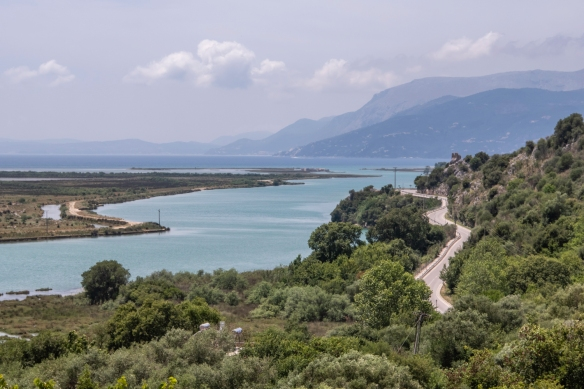 With occupation dating from 50,000 B.C., up to the 19th century A.D., Butrint (originally called Buthrotum) is located on a small hill surrounded by the waters of Lake Butrint and the Vi