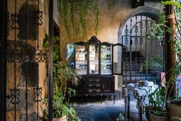 The restored entry-way to Restaurante Fabio Santana, Vegueta (Old Town), Las Palmas, Gran Cararia, Canary Islands