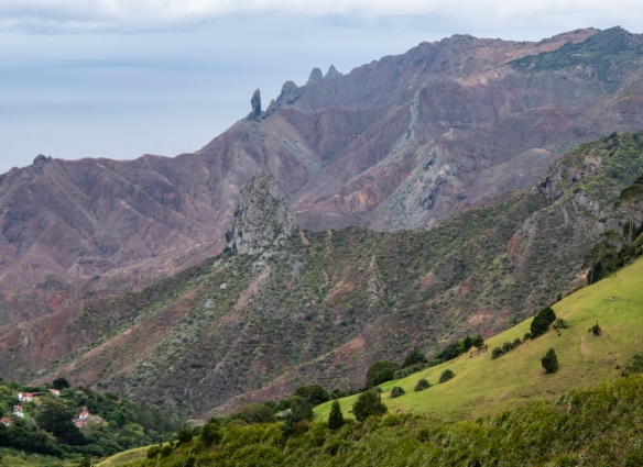 A close-up of some of the cliffs, Saint Helena Island