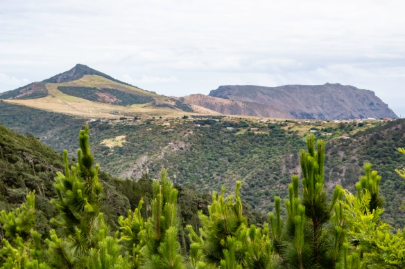 A view of the interior island terrain of Saint Helena Island as we drove up from the Briars valley to the Longwood district where Napoleon lived out the rest of his life in exile at the
