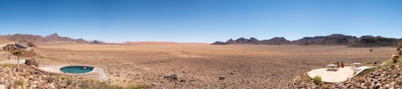 &Beyond Sossusvlei Desert Lodge, Namibia, is located at the northern end of the NamibRand Nature Reserve in the Namib Desert, approximately a 93 km (58 miles) drive to the end of the fam