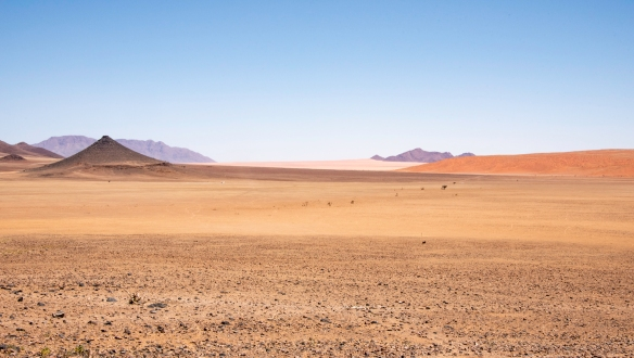 Breathtaking views of the Namib Desert and mountains can be had at the lodge_s terrace and dining areas (indoors and outdoors), as well as from the ten guest lodges, &Beyond Sossusvlei