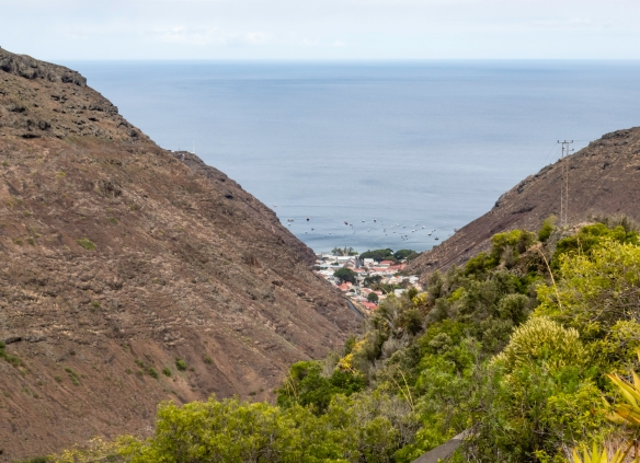Jamestown, the capital of the British Overseas Territory of Saint Helena, Ascension and Tristan da Cunha, is also the historic main settlement of Saint Helena Island in a v-shaped valley