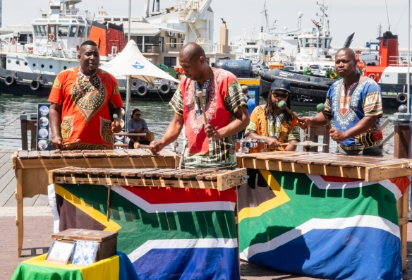 Local musicians playing at V&A Waterfront, Cape Town, South Africa