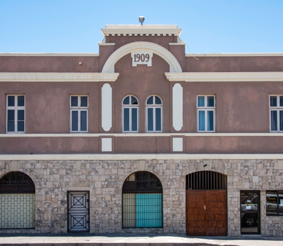 Most of the older buildings in Lüderitz, Namibia, date to around 1909, just after diamonds were discovered nearby and the German art nouveau architecture flourished