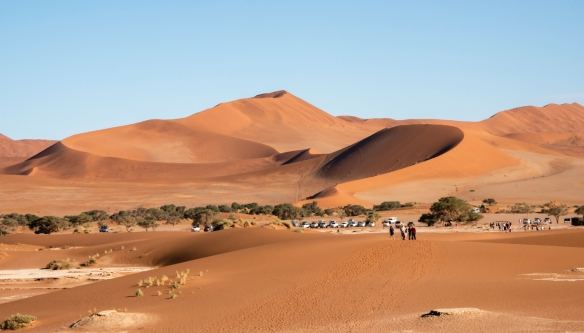 "Sand Dunes at Sunrise, Sossusvlei, Namibia, #10 – Big Mama, located across from ""Big Daddy"""