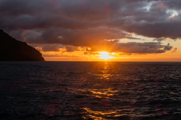 Sunset viewed just off Saint Helena Island